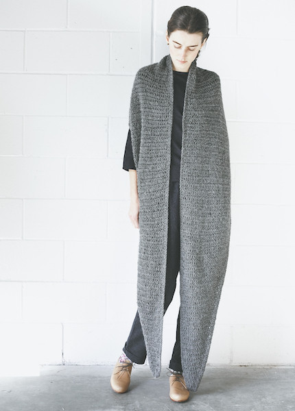 Bare Knitwear Haight Scarf in Charcoal