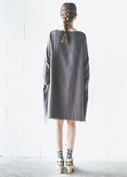 Black Crane Painter Dress in Black