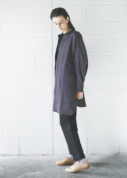 Black Crane Square Shirt | Purple