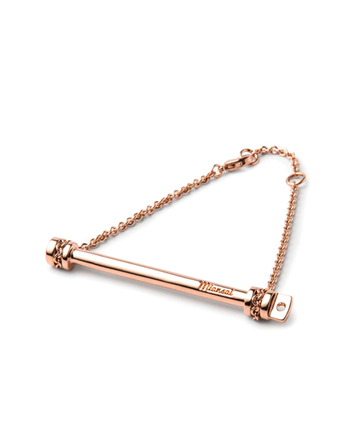 Miansai Rose Gold Screw Cuff Chain Bracelet