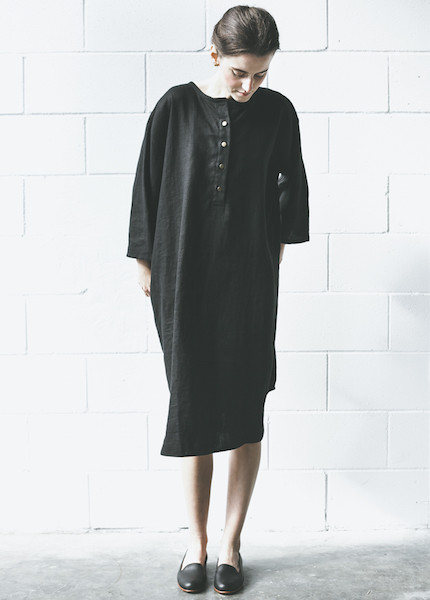 Sunja Link Linen Tunic | Black