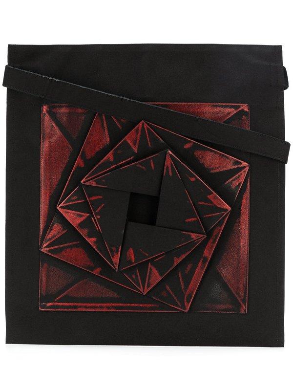 132 5 Issey Miyake Geometric Patterned Tote Bag Black