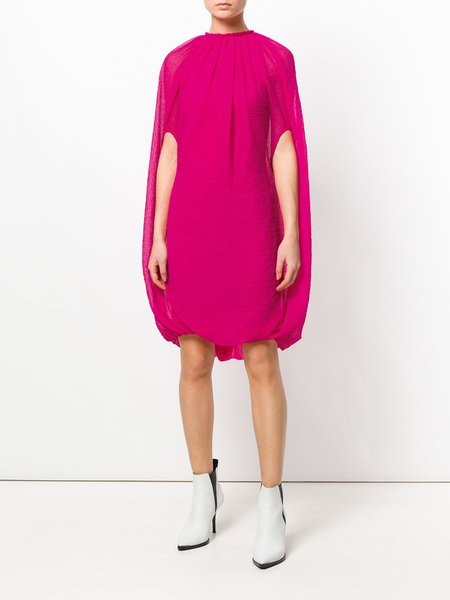 HELMUT LANG Chiffon Balloon Dress - Magenta