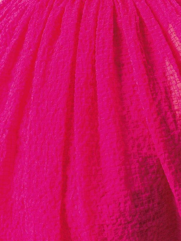 HELMUT LANG Chiffon Balloon Dress - Magenta
