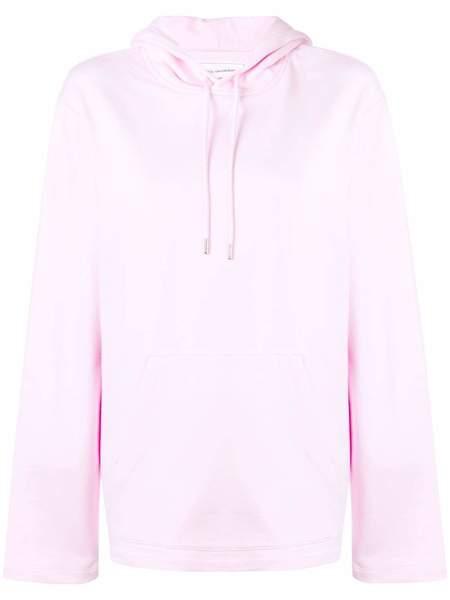unisex HELMUT LANG Jeremy Deller Flat Hem Hoodie - Light Pink