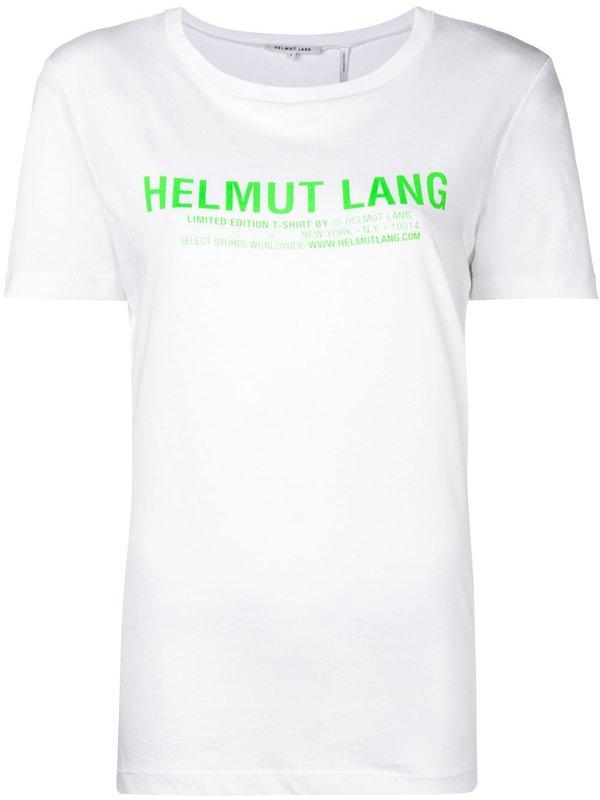 bde89d85 Helmut Lang Logo Baby Tee - White | Garmentory