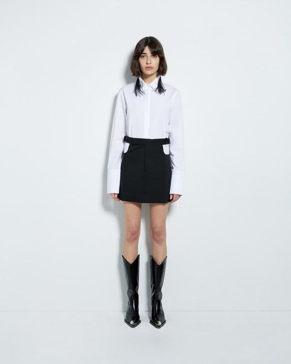 Helmut Lang Plastic Collar Shirt - White