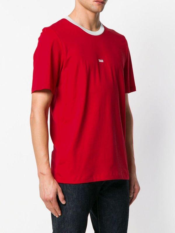 HELMUT LANG Taxi Print T-shirt - Hong Kong Red