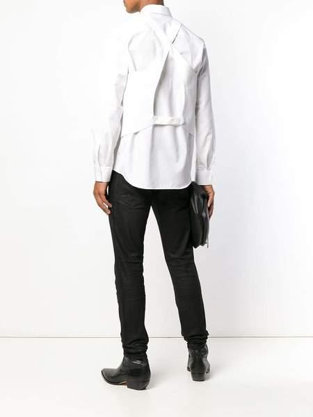 HELMUT LANG Waistcoat Back Poplin Shirt - white