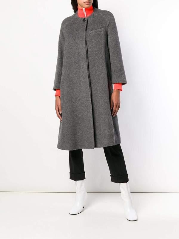 newest d7a65 2100e JIL SANDER Coat With Hidden Closure - gray