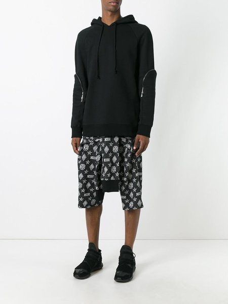 KTZ Kokon To Zai Monogram Tied Up Shorts - Black/White