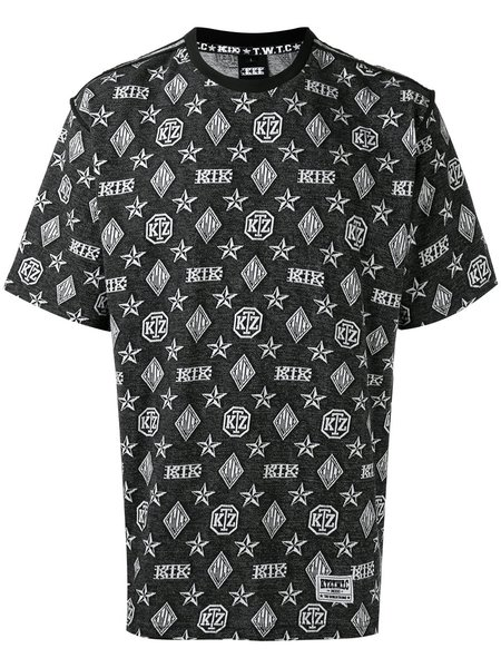 KTZ Kokon To Zai Inside Out Monogram T-Shirt - Black/White