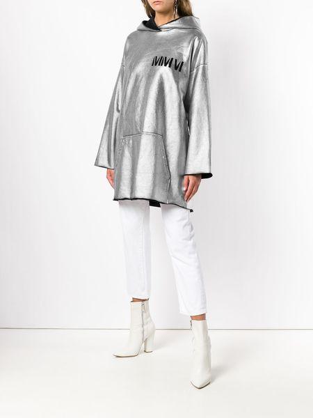 MM6 MAISON MARGIELA Long Hoodie - Silver