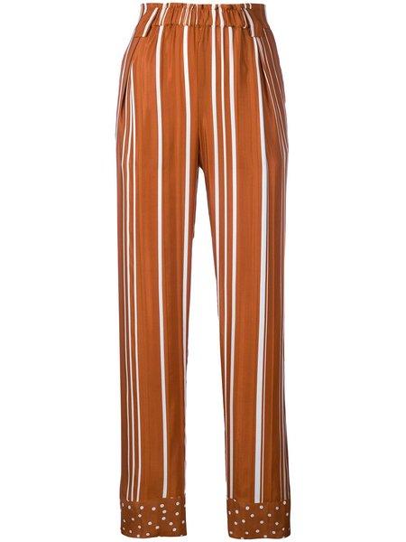 Stine Goya Vinnie Dots And Stripes Pants - Brown