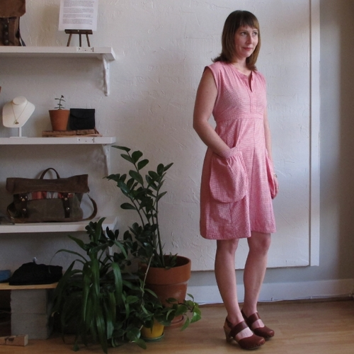 Rebe Rose Gingham Dress