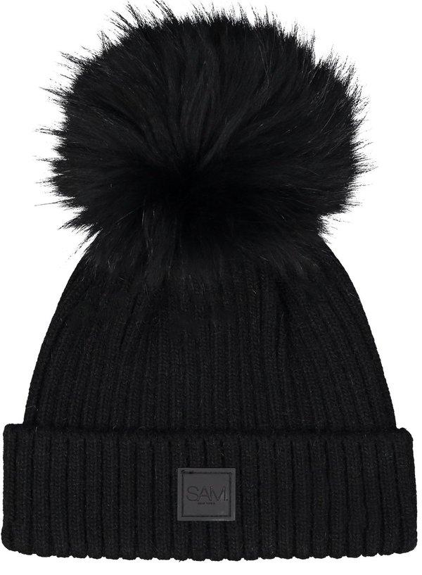 75d54540c S.A.M Fur Beanie - Black/Black on Garmentory