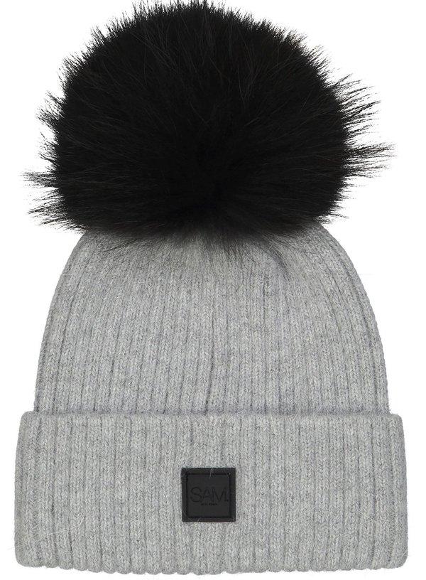 5363f5097 S.A.M Fur Beanie - Grey/Black on Garmentory