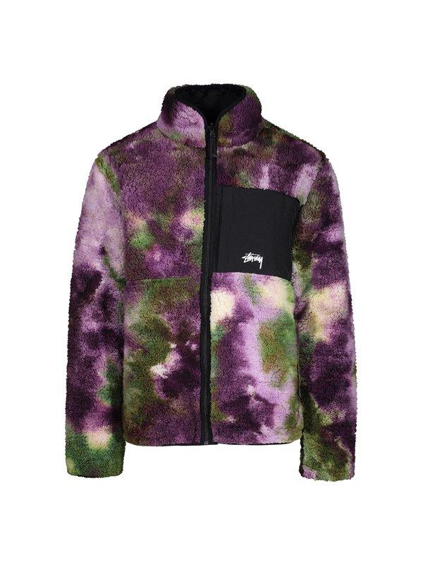 Stussy Rev Micro Fleece Jacket Tie Dye Garmentory