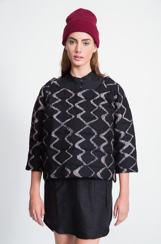 Osei-Duro Stratum Quilted Sweater
