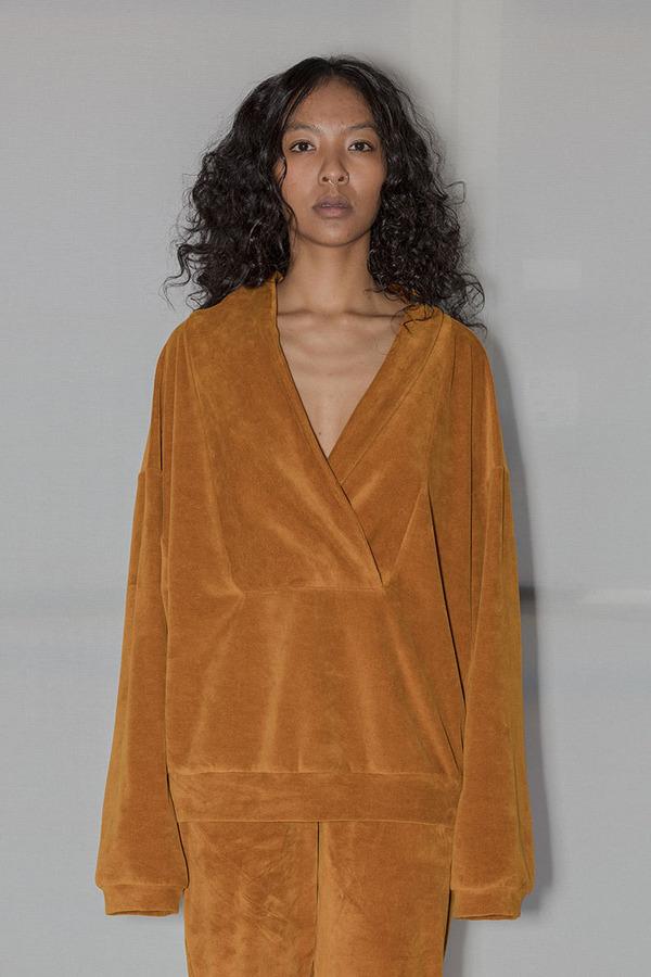 Baserange HOUSTON Sweatshirt - Theta Brown