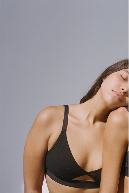 The Nude Label Cut out bra wide strap