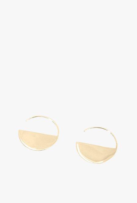 Honey & Bloom Half Moon Threader Earrings - Gold Vermeil