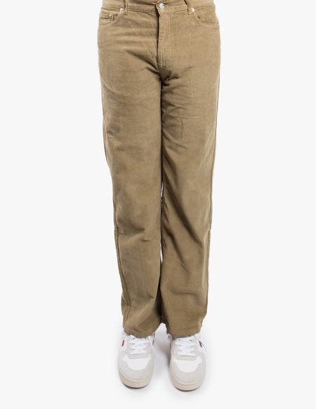Tres Bien 5-Pockets Loose Baby Cord Pant - Sage