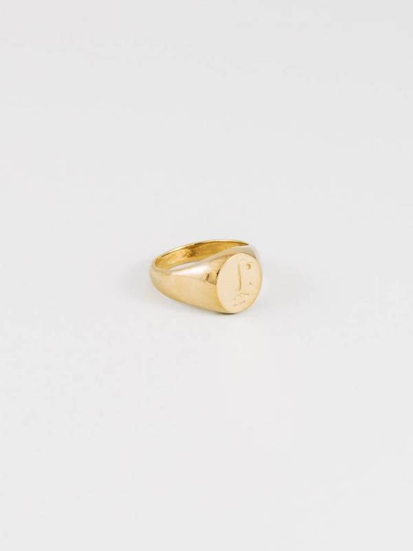 Wolf Circus Matisse Face Ring - Gold