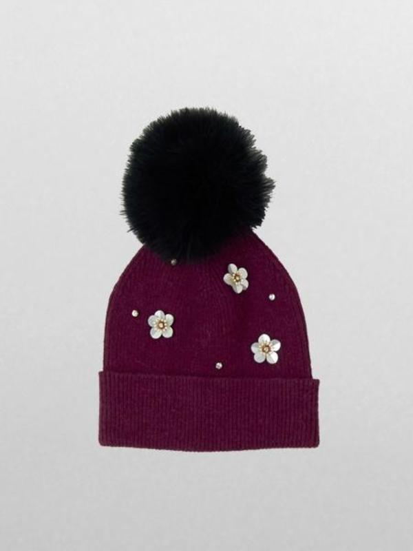 fa7cf03013e824 Echo Flower Pom Hat - Pickled Beet | Garmentory