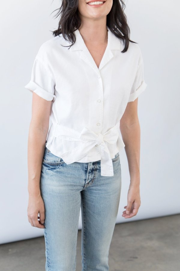 Father's Daughter La Emily Front Tie Top by Garmentory