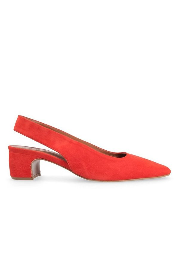 4d23847c5ea By Far Danielle Slingbacks Suede - Red