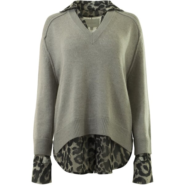 0f58d9dd447 Brochu Walker V-Neck Layered Pullover - Light Chia Printed