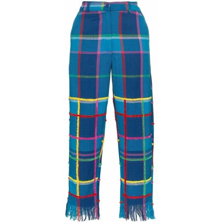 All Things Mochi Vivienne Pants - Plaid Blue
