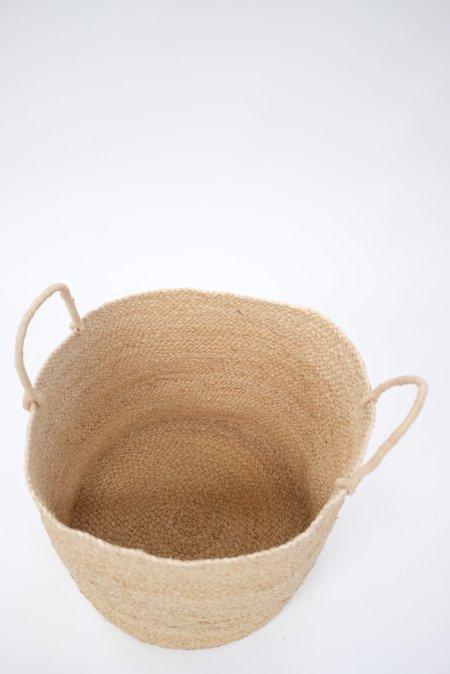 Indego Africa Large Braided Raffia Basket