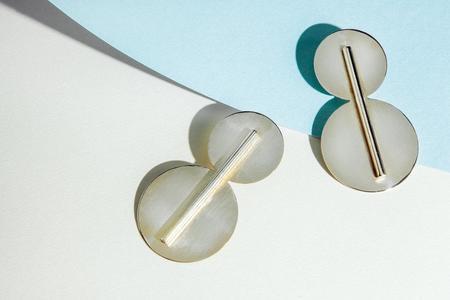 Cities In Dust Double Disc Earrings