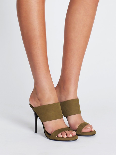 Camilla and Marc Didion Mule - Khaki Suede