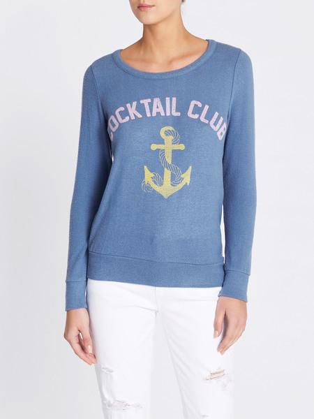 Chaser LA Cocktail Club Sweatshirt - Baby Blue
