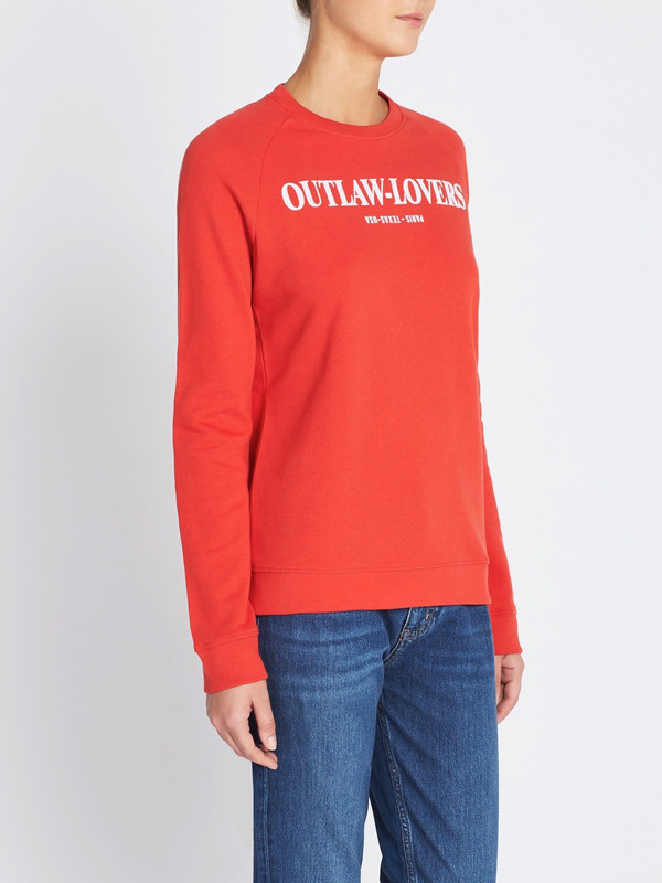 Zoe Karssen Outlaw Lovers Loose Fit Sweat - Aurora Red