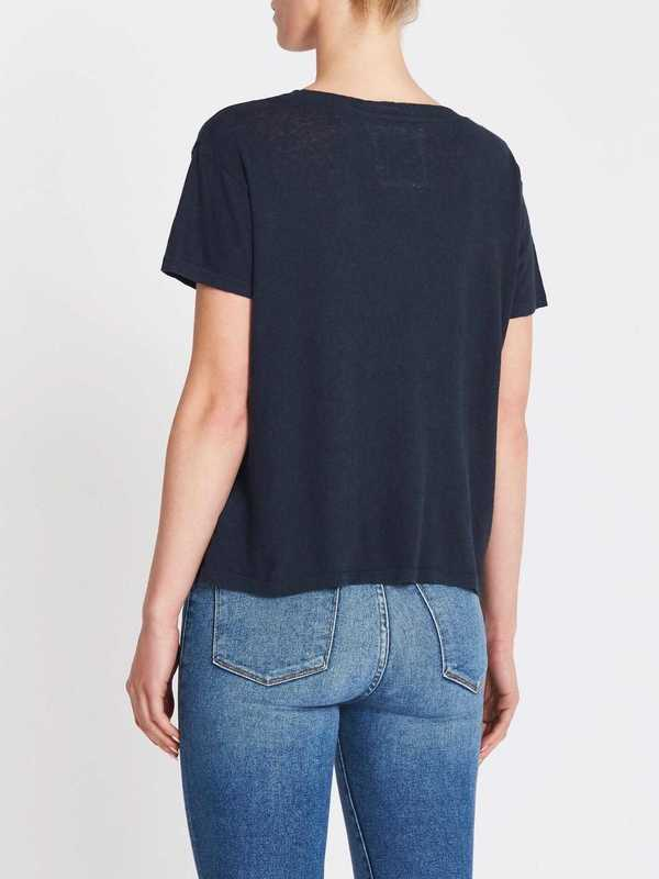 Mother Denim The Sinful Tee - Navy