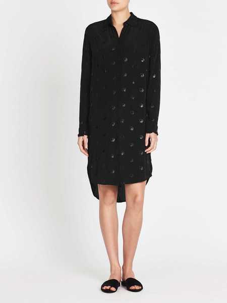 Zoe Karssen Yin Yang All Over Loose Fit Shirt Dress - Moonless Night