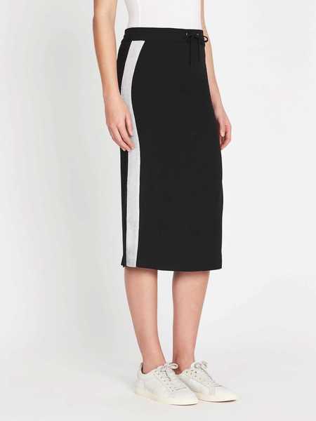 Zoe Karssen Silver Taping Relaxed Midi Skirt - black