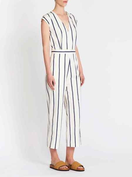 MiH Jeans Elm All In One Jumpsuit - Dark Blue Stripe