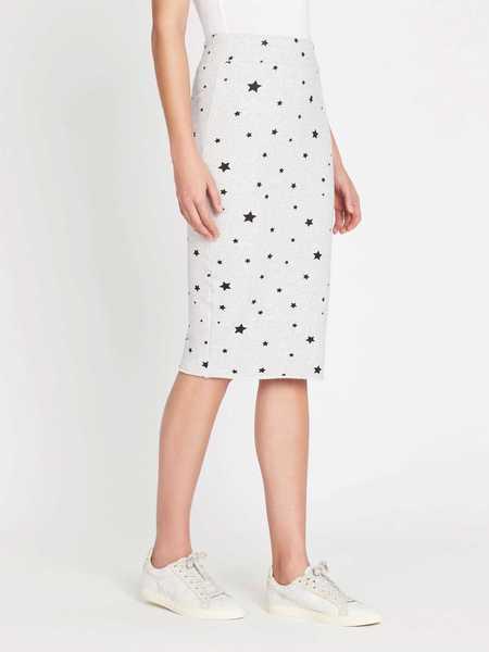 Zoe Karssen Stars All Over Slim Fit Tube Skirt - Heather Grey