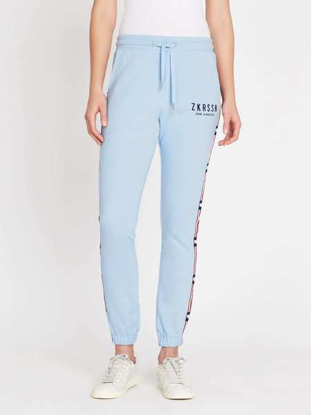 Zoe Karssen Relax Fit Signature Sweat Pants - Cerulean