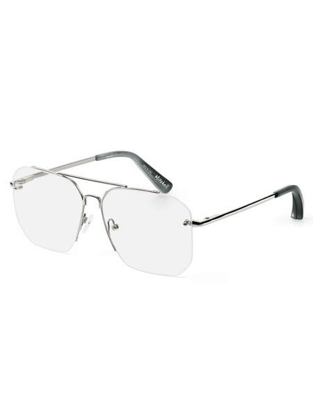 Elizabeth and James Mitchell Glasses - Silver