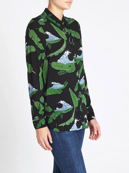 Zoe Karssen Island All Over Loose Fit Shirt - black