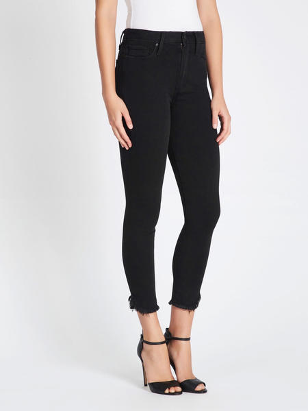 Paige Margot Crop Novelty Fray Hem Jean - Draco