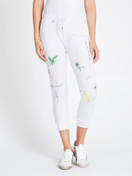 Zoe Karssen Scribble All Over Boyfriend Fit Sweatpants - white