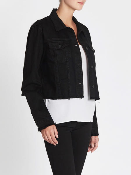 J Brand Fray Crya Jacket - Black