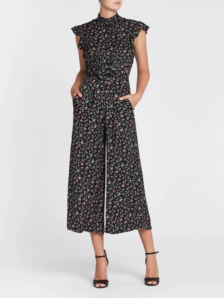 Rebecca Taylor Short Sleeve Vine Jumpsuit - Floral